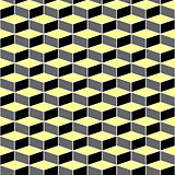 Seamless pattern with optical illusion effect.