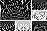 Lines latticed patterns set.