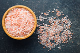 Himalayan salt in bowl