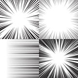 Comic book speed horizontal lines background