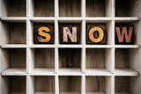 Snow Concept Wooden Letterpress Type in Drawer