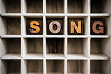 Song Concept Wooden Letterpress Type in Drawer
