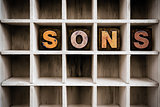 Sons Concept Wooden Letterpress Type in Drawer