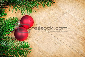 branches with christmas decoration