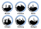 Icon set german cities