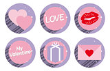 Set of valentine sticker