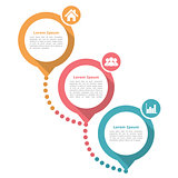 Three Steps Diagram Template