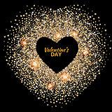 Black valentines day background