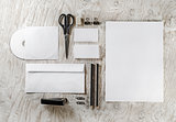 Blank corporate identity template