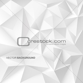 Abstract geometric background with white shapes.