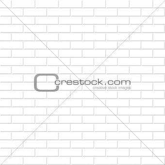 Brick wall texture. White seamless background.