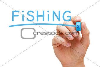 Fishing Blue Marker