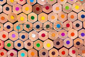 Close up macro shot of pencils