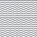 Hand drawn seamless indigo irregular wave line texture