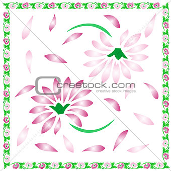 Floral background,decorative spring flowers