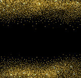 Gold glittering background