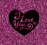 Valentine pink glittering background
