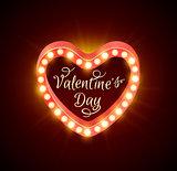 Retro banner for Valentine's day