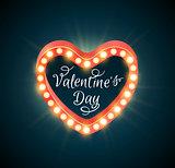 Retro shining Valentine banner