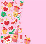 Decorative background for Valentine's day