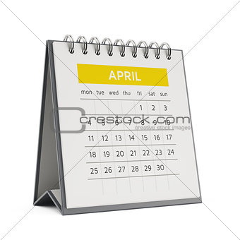 3d april desktop calendar