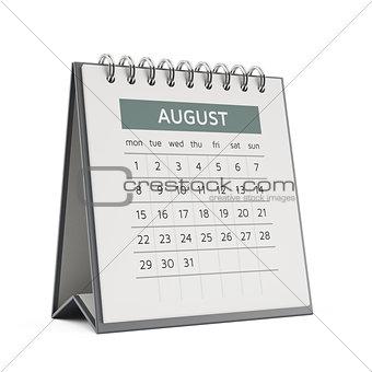 3d august desktop calendar