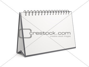 3d blank desktop calendar isolated