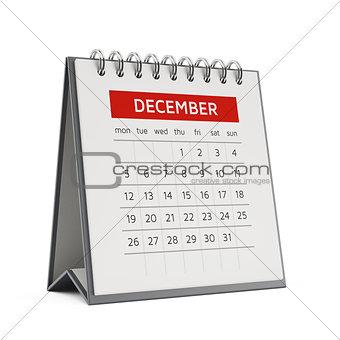 3d december desktop calendar