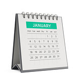 3d january desktop calendar