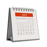 3d july desktop calendar