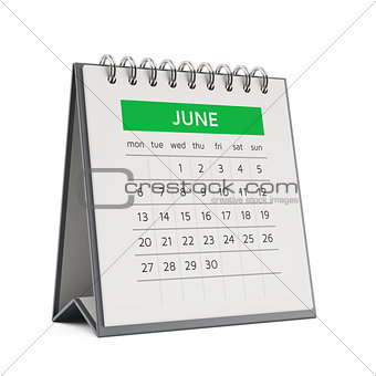 3d june desktop calendar