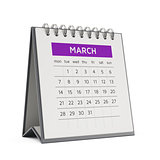3d march desktop calendar