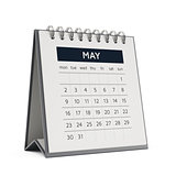 3d may desktop calendar