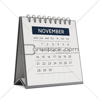 3d november desktop calendar