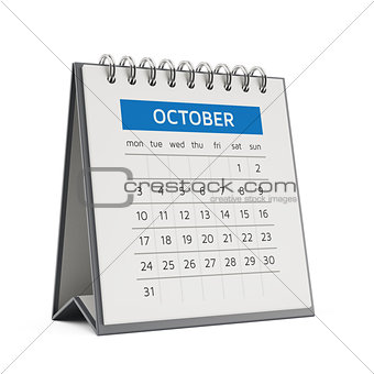 3d october desktop calendar