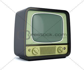 Cassic retro TV isolated