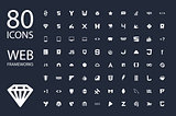 Web development framework icon set vector illustration