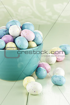 Bowl of Speckled Easter Eggs