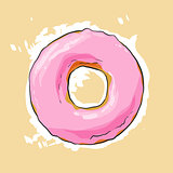 Sweet donut illustration