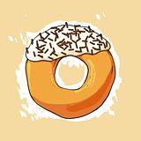Sweet donut illustration