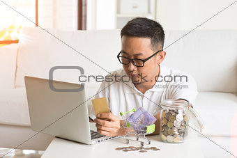 asian male online shopping