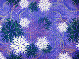 Vintage snowflakes blue background