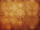 Vintage snowflakes paper background
