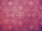 Vintage snowflakes purple background