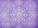 Vintage snowflakes violet background