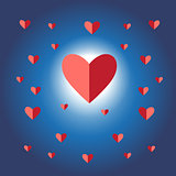 sign vector red heart