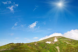 summer mountain ridge (Ukraine, Carpathian Mountains)