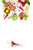 fresh vegetables and spices