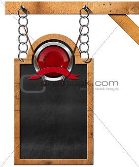 Asian Menu - Blackboard with Chain