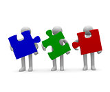 Teamwork, 3d concept